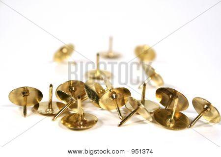 Verstreuten Daumen Nägel mit Köpfen machen