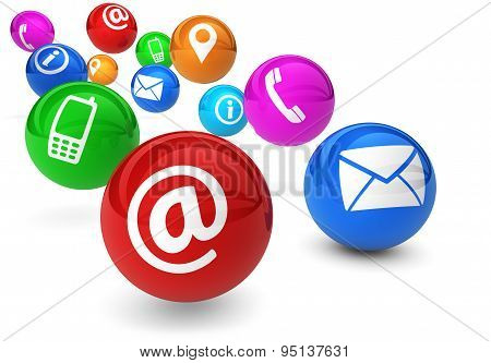 Contact Us Icons Website Connection