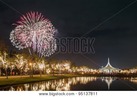 Beautiful Of Fireworks In Thailand