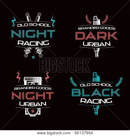 Dark Racing Urban Badges