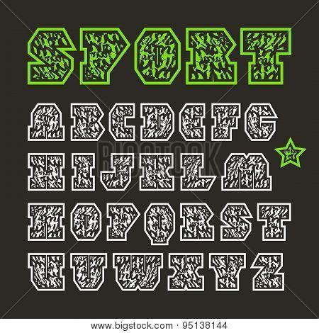Serif Geometric Sport Font
