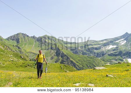 Hiking In The Alps In Idyllic Environment
