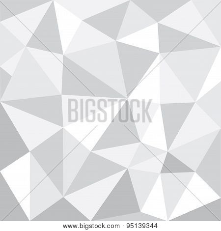 Greyscale Tone Low Polygon Pattern