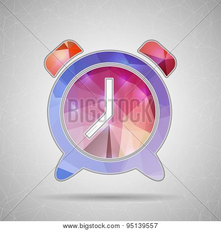 Creative concept vector icon of alarm clock for Web and Mobile Applications isolated on background.