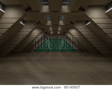 Science Fiction Interior Scene - Sci Fi  Corridor