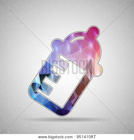 Abstract Creative concept vector icon of nursing bottle for Web and Mobile Applications isolated on