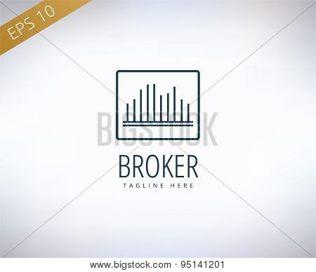 Bank finanse logo. Money, banking or broker and growth. Vector stock illustrations.