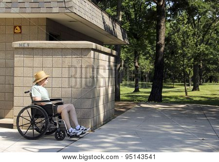Handicapped Bathroom Outdoors