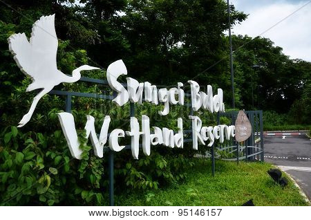 Entrance Of Sungai Buloh Wetland Reserve