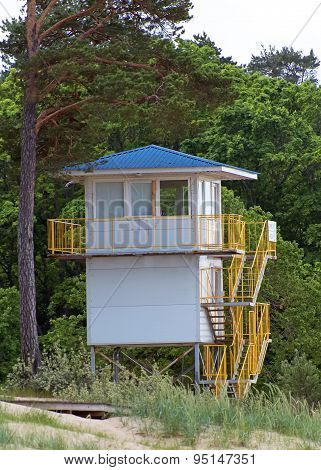 Lifeguard Tower Near The Beach.