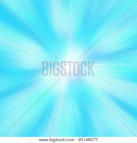 Turquoise background.