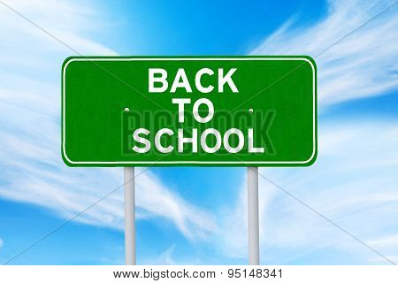 Signpost Of Back To School
