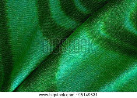 Handmade Batik Print On Green Cotton Textile