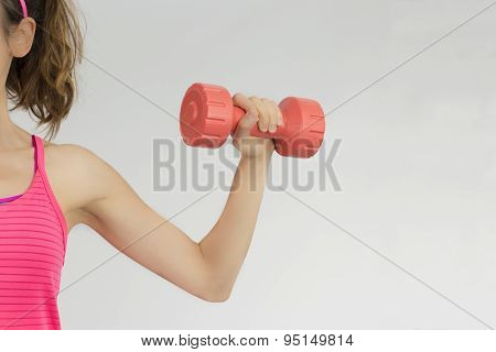 Female Arm Lifting Dumbbell