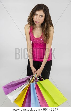 Shopping Woman Exhausted