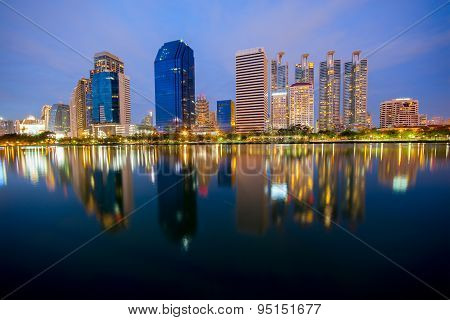 Cityscape View Of Modern Buildings