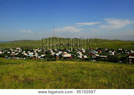 village made up of dachas