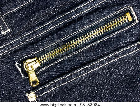Background zipper jeans