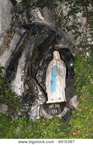 Figure of the Madonna in Lourdes Cave