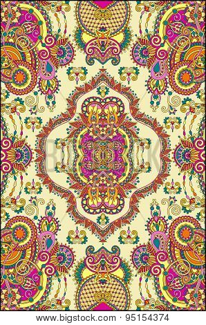 elaborate original floral large area carpet design for print