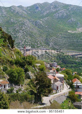 The village Klis in Croatia
