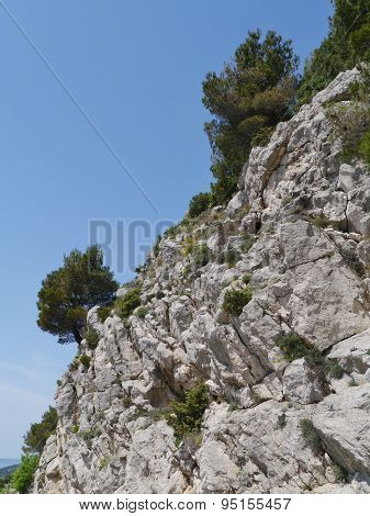 The rocks near the Croatian Klis