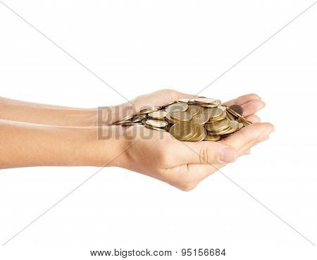 Coins In The Hands