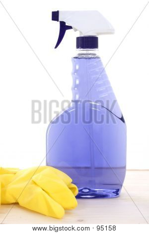 Cleaner And Rubber Gloves