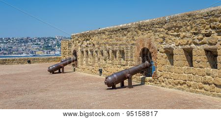 Naples, Cannons Of Castel Dell'ovo - Italy