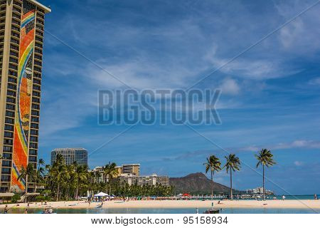 Beach in Waikiki, Hawaii