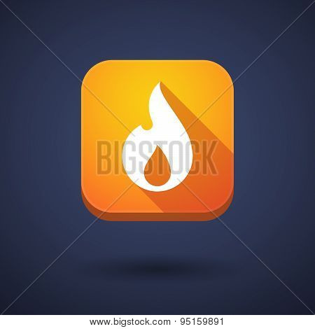 App Button With A Flame