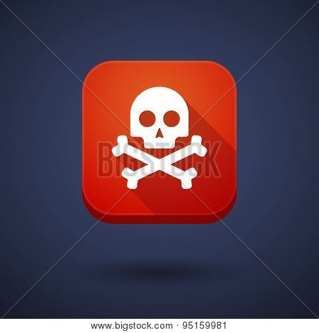 App Button With A Skull