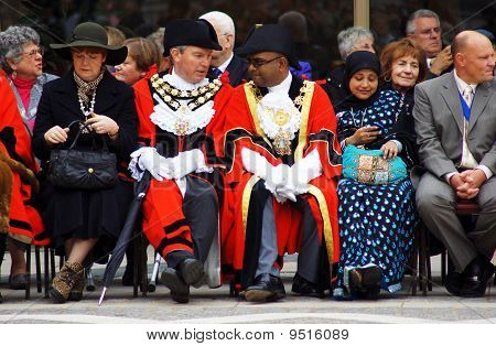Mayors At The Pearly Kings And Queens Harvest Festival In The City Of London 26Th September 2010