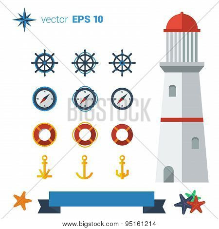 Lighthouse icon pack