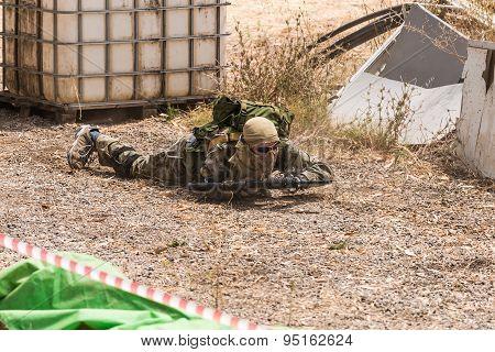 Soldiers On Maneuvers