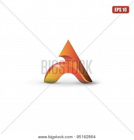 Letter A logo symbol