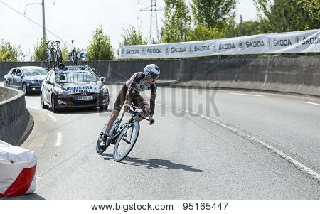 The Cyclist Romain Bardet - Tour De France 2015