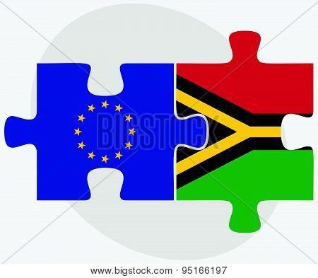 European Union And Vanuatu Flags