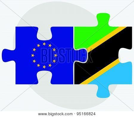 European Union And Tanzania Flags