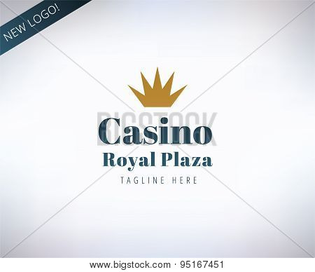 Casino vector logo icon. Poker, cards or game and money symbol. Stocks design elements.