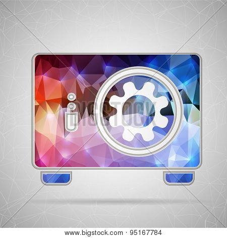 Abstract Creative concept vector icon of safe box for Web and Mobile Applications isolated on backgr
