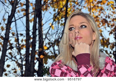 Blond Girl  Thoughtful