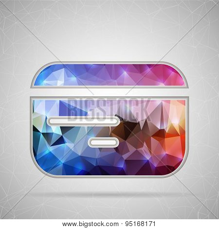 Abstract Creative concept vector icon of credit card for Web and Mobile Applications isolated on bac
