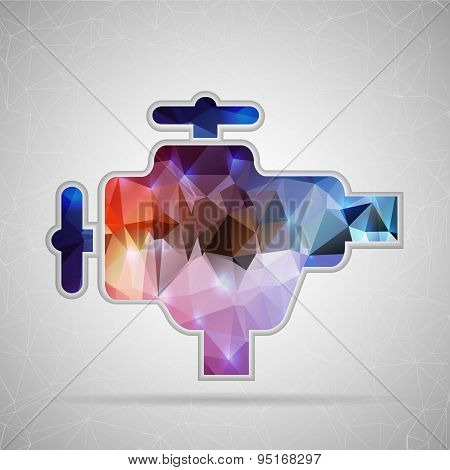 Abstract Creative concept vector icon of valve for Web and Mobile Applications isolated on backgroun
