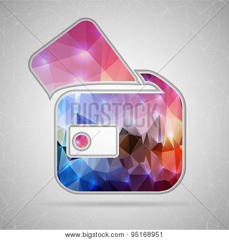 Abstract Creative concept vector icon of wallet for Web and Mobile Applications isolated on backgrou