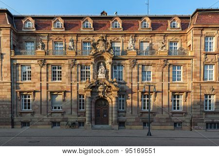 Historic building in Speyer in evening light, Germany
