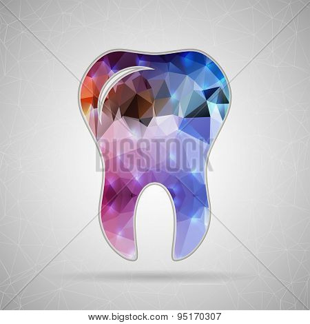 Abstract Creative concept vector icon of tooth for Web and Mobile Applications isolated on backgroun