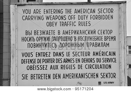 Sign at Border