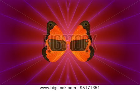 Sunglasses With Batterfly