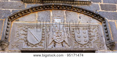 Coat Of Arms Franco Castile Symbols Castle Walls Avila Spain